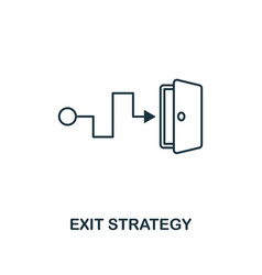 exit strategy outline icon thin line element from vector image