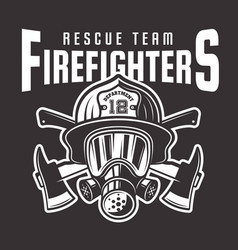 Firefighters emblem or t-shirt print vector