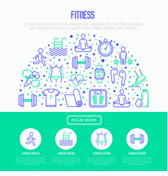 fitness concept in half circle vector image