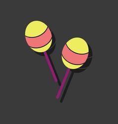 Flat icon design kids beanbag in sticker style vector