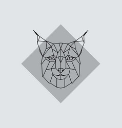 geometric head lynx vector image