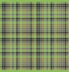 green pixel mosaic plaid seamless pattern vector image