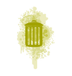 Green recycle basket icon vector