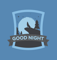 Greeting card good night in vector