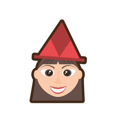 Head girl hat party vector