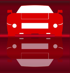 Hot sportcar reflection vector