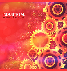 Industrial bright template vector