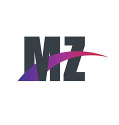 Initial letter overlapping design logo vector