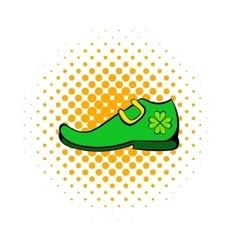 Leprechaun shoe icon comics style vector image