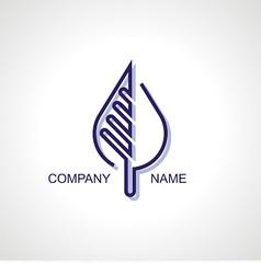 Logo for organic company vector