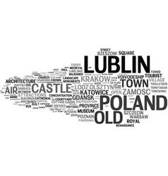 Lublin word cloud concept vector