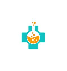 medical science lab logo icon design vector image