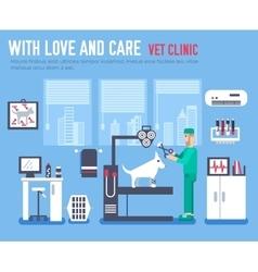 Medical vet clinic Veterinarian icon vector