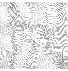 monochrome wave line texture vector image