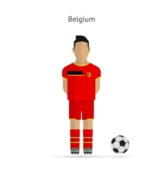 National football player Belgium soccer team vector image