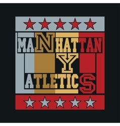 new york city typography manhattan vector image