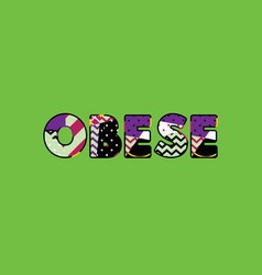 Obese concept word art vector