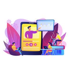 Online teaching concept vector