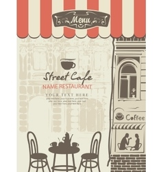 Outdoor cafe menu vector