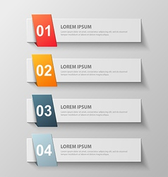 paper infographic16 vector image