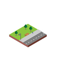 Park bench n isometric projection necessary vector