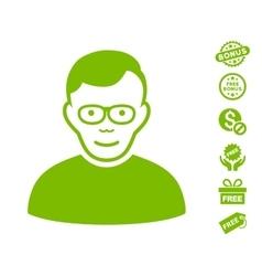 Pensioner Icon With Free Bonus vector