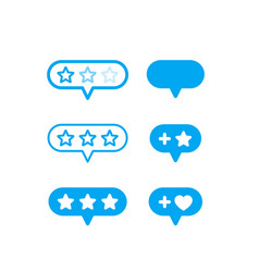 rating icons on white vector image