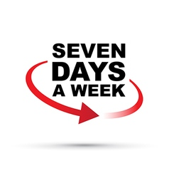seven days red vector image