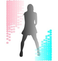 Silhouetted Girl vector image
