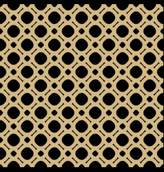 Simple black and gold geometric seamless pattern vector