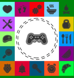 Simple game controller icon vector