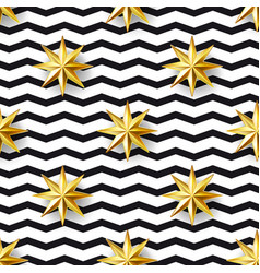 Stars and zizgag seamless pattern vector