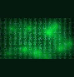 stream of binary matrix code on full screen vector image