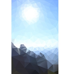 sun and rock vector image