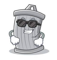 Super cool trash character cartoon style vector