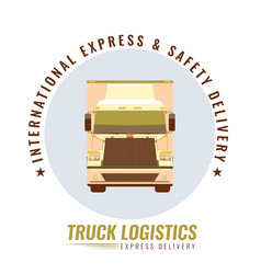 the old vintage logo for trucking company with the vector image
