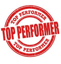 Top performer stamp vector