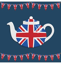 Union jack teapot vector