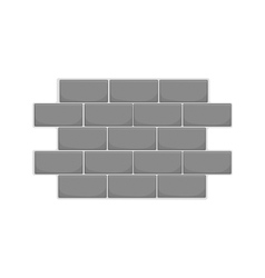 Wall of bricks icon black monochrome style vector