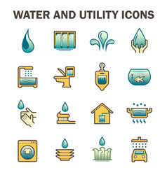Water usage icon vector
