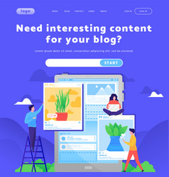 web site design template social media vector image