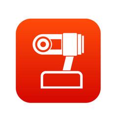 Webcam icon digital red vector