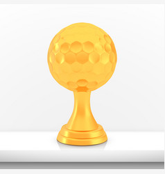 winner golf cup award golden trophy logo isolated vector image