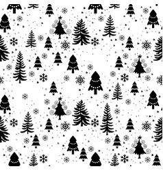 Winter forest trees pattern a woodland background vector