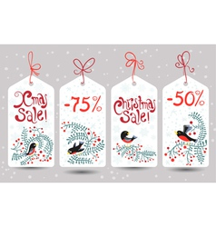 Winter sale tags vector