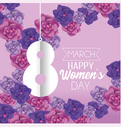 womens day event with roses decoration vector image
