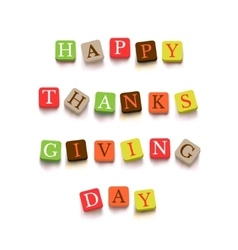 Words Happy Thanksgiving Day vector
