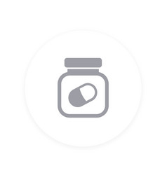 Bottle of pills icon vector