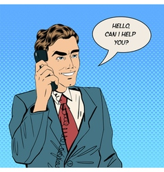 Businessman Speaking on the Phone at Office vector image vector image