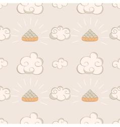 Cartoon oriental seamless pattern vector